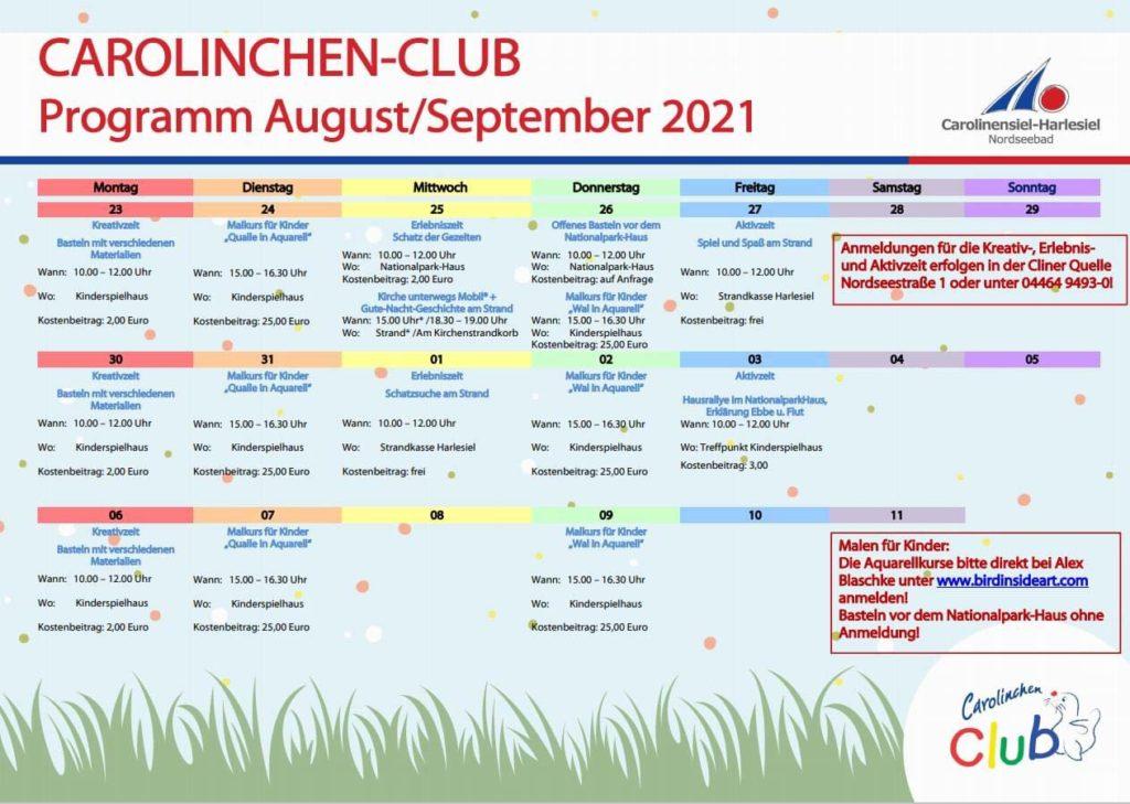Carolinchen-Club Programm